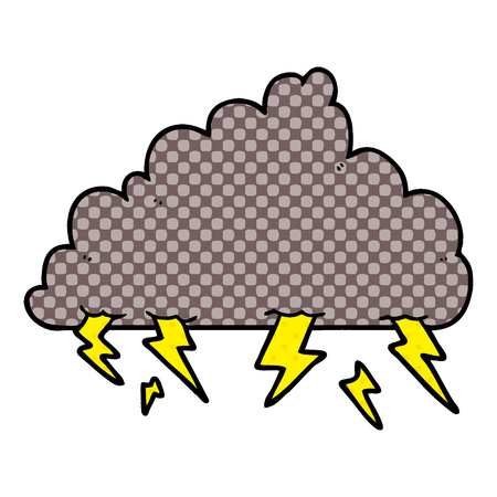 cartoon thundercloud illustration design