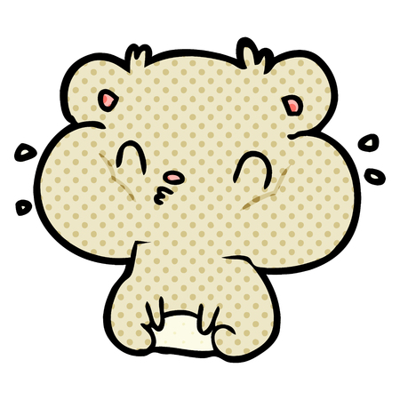 hamster de dessin animé avec des poches de joues pleines