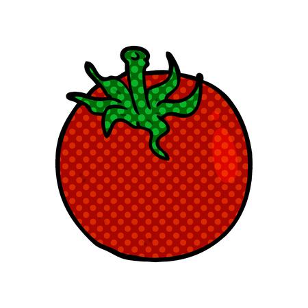 Un pomodoro fresco cartone animato isolato su sfondo bianco Archivio Fotografico - 95653546