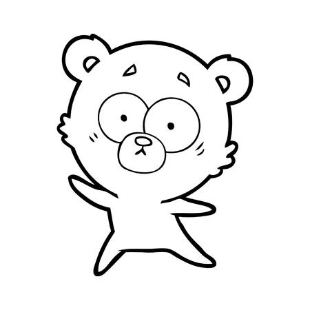anxious bear cartoon Illustration