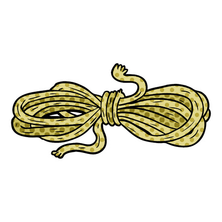 A cartoon rope isolated on white background Stock Illustratie