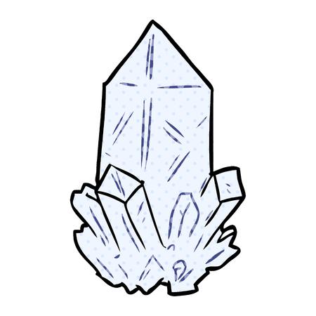 cartoon quartz crystal
