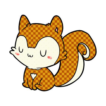cartoon squirrel illustration design