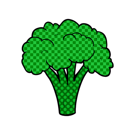 cartoon brocoli illustration design