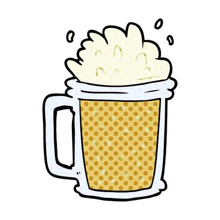 cartoon pint of ale 向量圖像