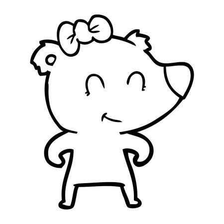 female bear cartoon Archivio Fotografico - 95640151