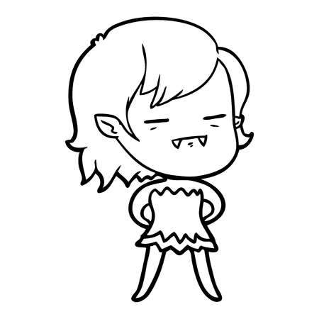 A cartoon un-dead vampire girl isolated on white background Standard-Bild - 95653693