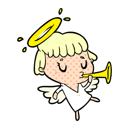 A cute cartoon angel isolated on white background 向量圖像