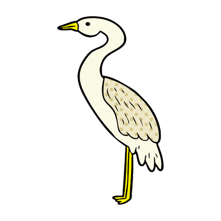 A cartoon stork isolated on white background  イラスト・ベクター素材