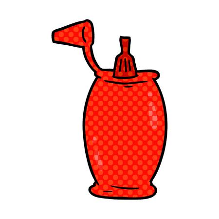 cartoon tomato ketchup bottle