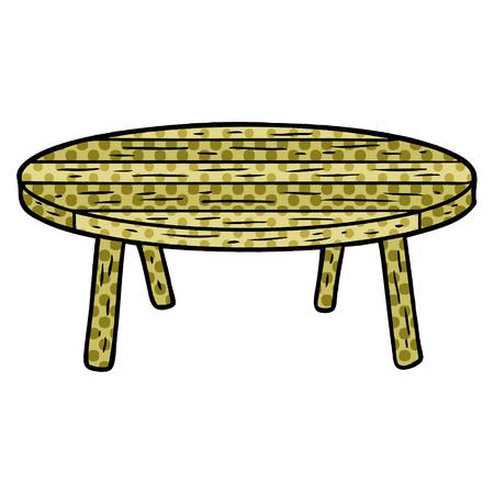 Una mesa de madera de dibujos animados aislado sobre fondo blanco. Foto de archivo - 95654055
