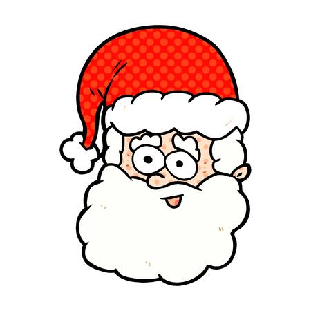 A cartoon Santa Claus isolated on white background Illustration