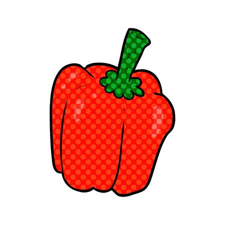 cartoon fresh organic pepper