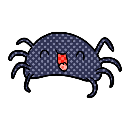 A cartoon Halloween spider isolated on white background Illustration