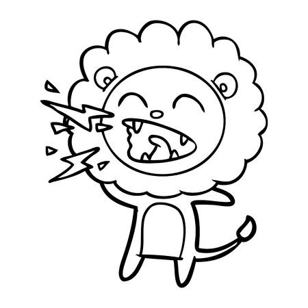 cartoon roaring lion Banque d'images - 95669667