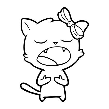 cartoon cat meowing