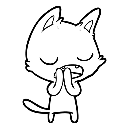 talking cat cartoon Иллюстрация