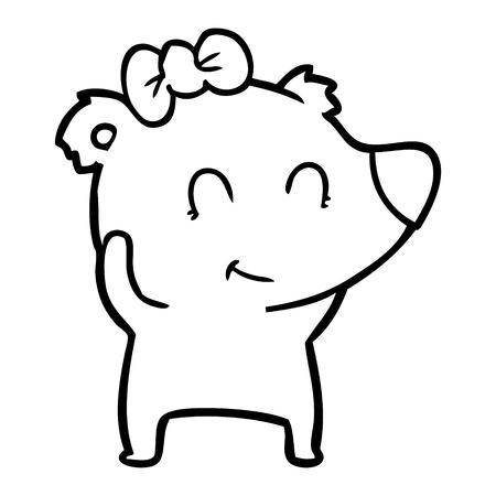 female polar bear cartoon Archivio Fotografico - 95669838