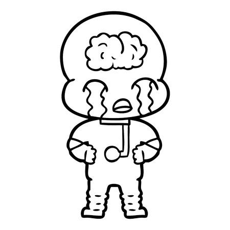 手描き漫画大脳エイリアン泣いて