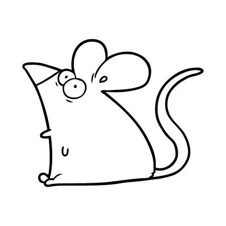 手描き漫画おびえたネズミ
