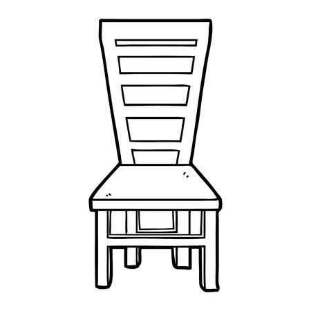 Dibujos animados de silla de madera vieja dibujada a mano Foto de archivo - 95759227