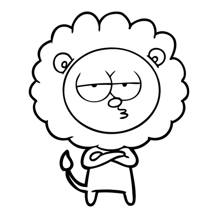 cartoon bored lion