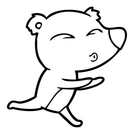 手描き漫画ランニングクマ