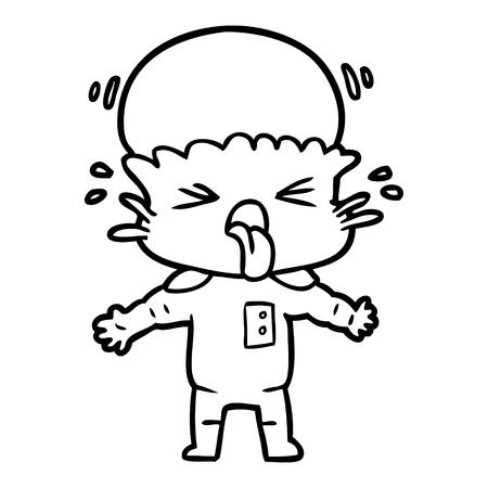 手描き奇妙な漫画エイリアン  イラスト・ベクター素材