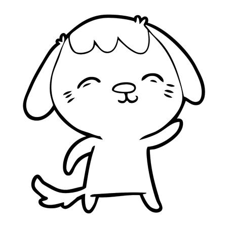 Hand drawn happy cartoon dog Stockfoto - 95761556