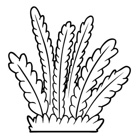 Hand drawn cartoon growing plants