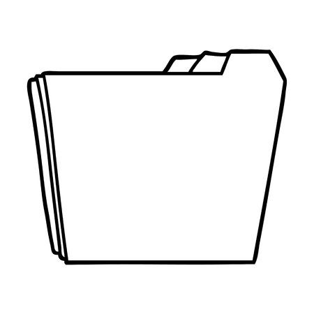 Hand drawn cartoon business folders Illusztráció