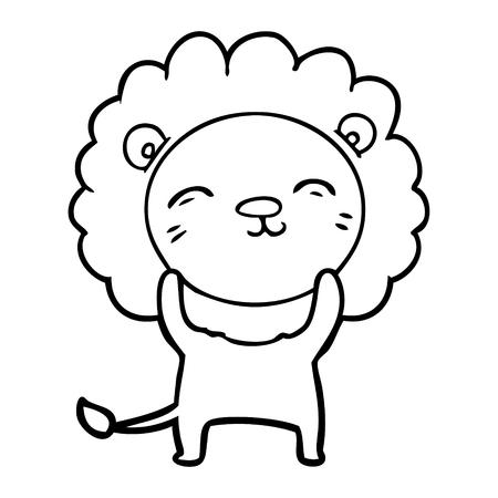 Cute and charming lion cartoon Ilustracja