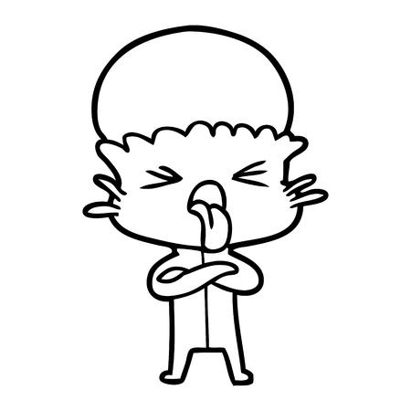 disgusted cartoon alien