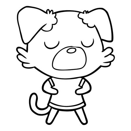 Snob cute dog cartoon