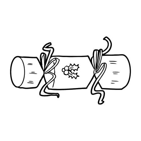 xmas cracker cartoon Illustration