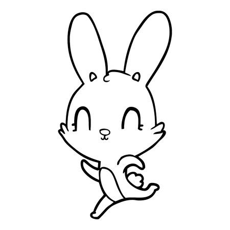 Cute and charming rabbit cartoon