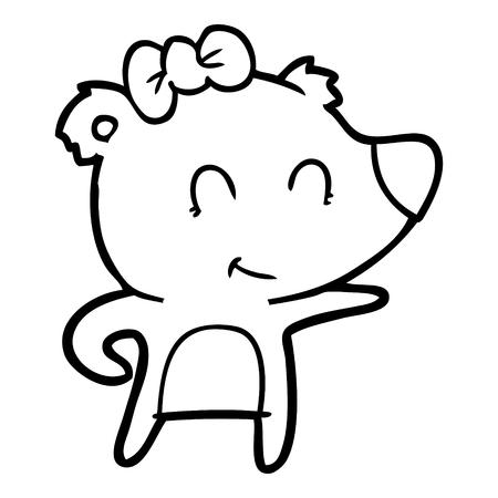 female bear cartoon Archivio Fotografico - 95769762