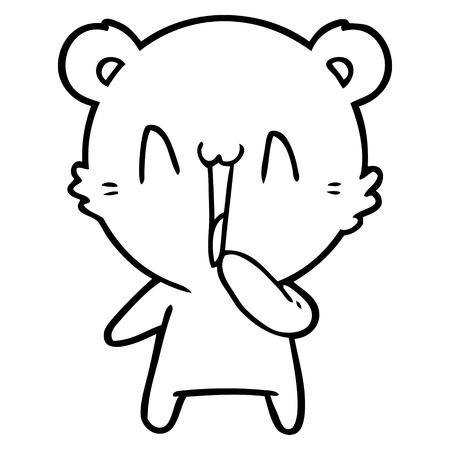 Delighted bear cartoon Иллюстрация