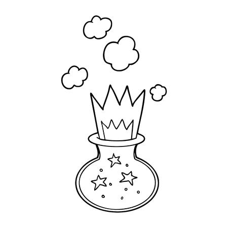 cartoon magic potion Stock Illustratie