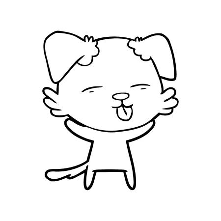 cartoon dog sticking out tongue