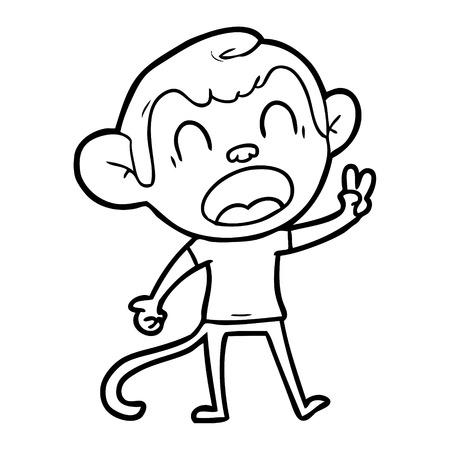 Joyous and charming monkey cartoon