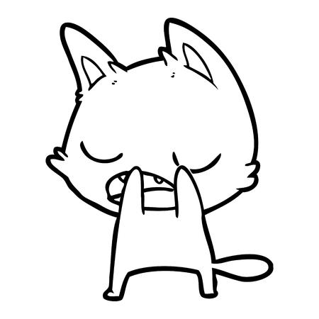 Talking cat cartoon Illustration