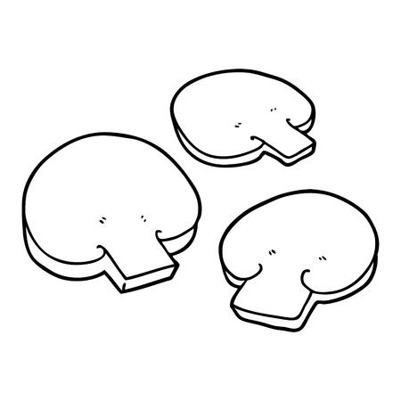 Flatten mushrooms cartoon