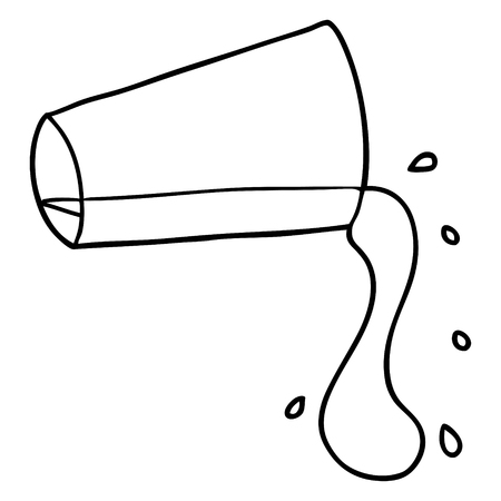 Hand drawn cartoon cool drink of water Illustration