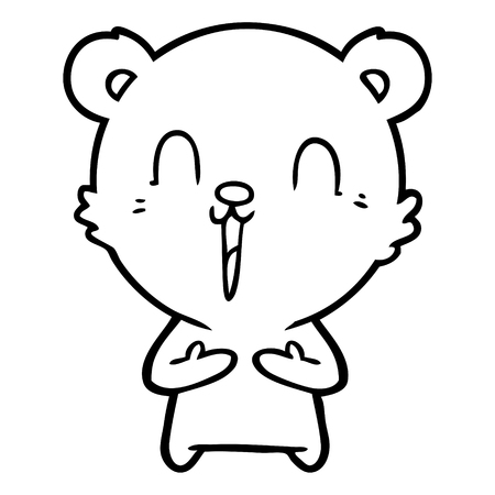 Gleeful and cuddly cute bear cartoon