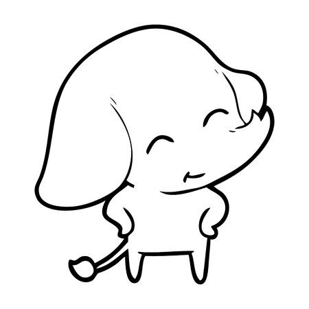 Cute and nice looking elephant cartoon