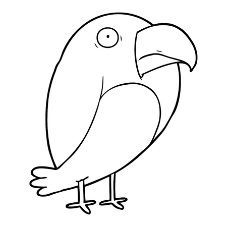 Simple crow cartoon