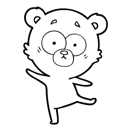 Worried while staring bear cartoon