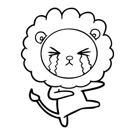 Weinende aber Tanz Löwe , scheint in Schmerzen Standard-Bild - 95693144