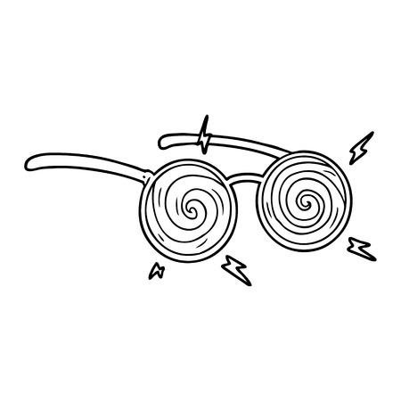 cartoon x-ray specs Vector illustration.